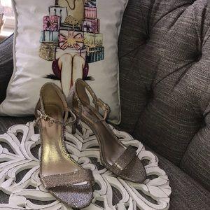 Michael Kors Gold Glitter Heels Shoes Woman's 7.5